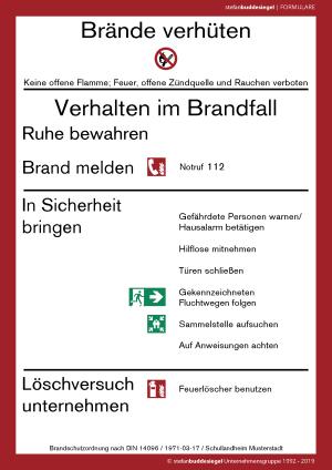 Formular Brandschutzordnung Teil A